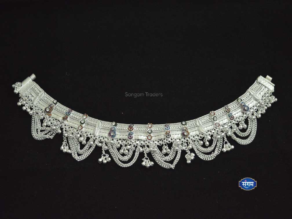 Sangam Traders   Silver Broad Payal   Heavy Anklet